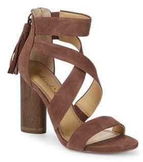 Splendid Jara Crisscross Block Heel Leather Sandals