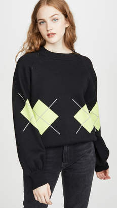 J.o.a. Argyle Crew Neck Sweater