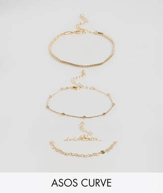 Asos Pack of 3 Disc and Ball Chain Bracelets