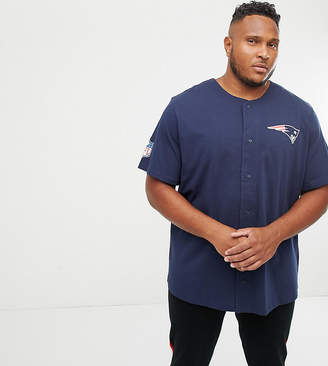 New Era NFL New England Patriots Jersey With Mesh Back Print In Blue