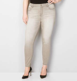 Avenue Washed Skinny Jean in Khaki
