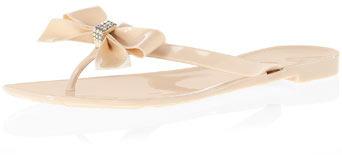 Dorothy Perkins Nude diamante bow jellies