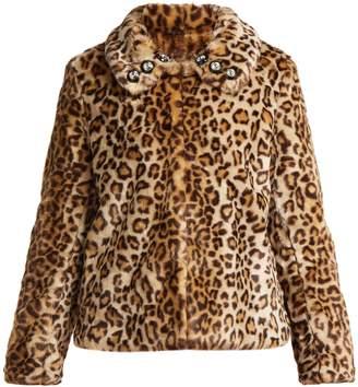SHRIMPS Junior leopard-print faux-fur jacket
