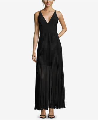 Xscape Evenings Pleated V-Neck Gown