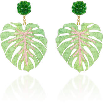 Mercedes Salazar Mano De Tigre Verde Earrings