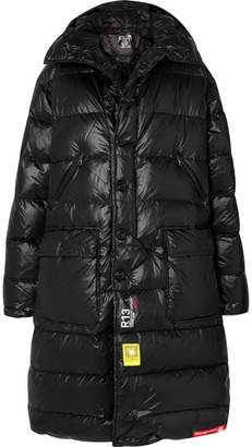 R 13 Brumal Hooded Quilted Shell Down Jacket - Black