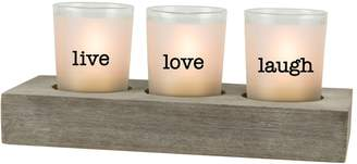"San Miguel ""Love"" 3-Light Tealight Candle Holder 4-piece Set"
