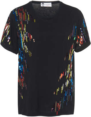 Lanvin Embroidered Sequin T-Shirt