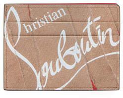 Christian Louboutin Men's Kios Kraft Paper Leather Card Case