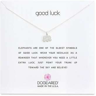 Dogeared Sterling Silver Good Luck Elephant Necklace, 16""