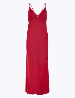 Marks and Spencer Satin & Lace Long Nightdress