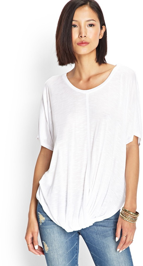 Forever 21 Contemporary Knot So Basic Dolman Tee