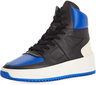 Fear Of God Men's Two-Tone Leather High-Top Basketball Sneakers Black/Blue