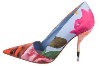 Christian Dior Floral Pointed-Toe Pumps