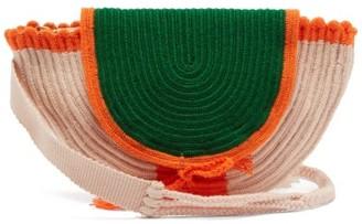 Cara Sophie Anderson Crochet Knitted Belt Bag - Womens - Green Multi
