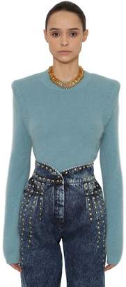 Alberta Ferretti Angora Blend Knit Sweater