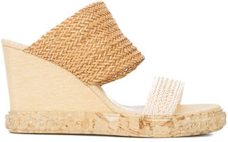 Casadei woven wedge sandals