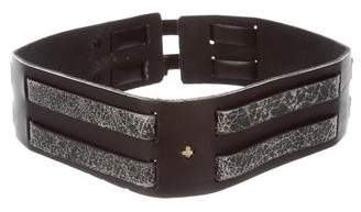 Rag & Bone Dual Buckle Leather Waist Belt