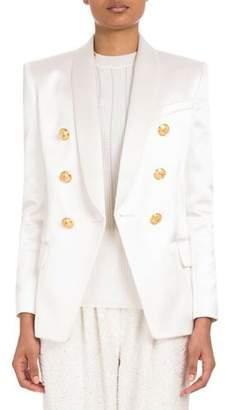 Balmain Double-Breasted Satin Jacket