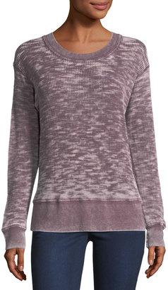 Allen Allen Washed Waffle-Knit Sweatshirt $55 thestylecure.com