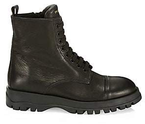 Prada Women's Leather Combat Boots