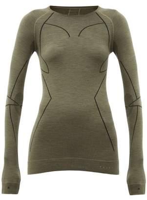 Falke Thermal Stretch Wool Performance Top - Womens - Green