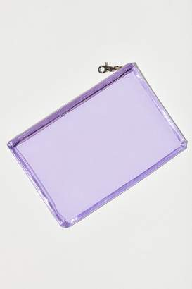 Urban Outfitters Clear Flat Zippered Pouch