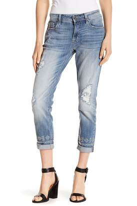 Miss Me Studded Boyfriend Ankle Jeans