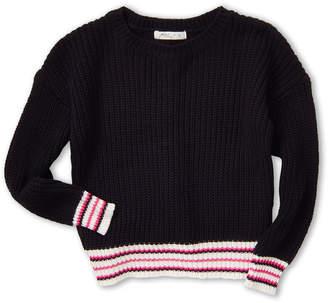 Pinc Premium Girls 7-16) Striped Bottom Long Sleeve Sweater