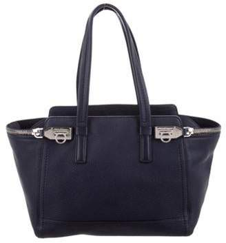 Salvatore Ferragamo Verve Leather Tote Navy Verve Leather Tote