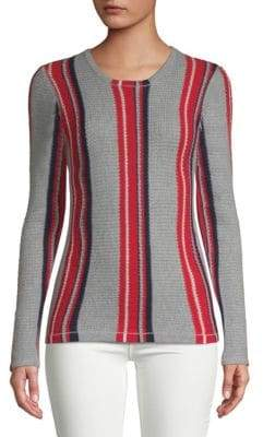 Lucan Striped Cashmere Top
