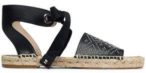 Paloma Barceló Studded Leather Espadrille Sandals