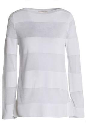 Michael Kors Striped Stretch-Knit Sweater