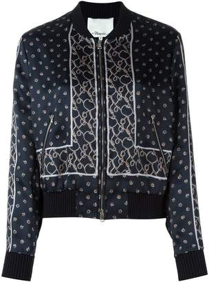 3.1 Phillip Lim printed satin bomber jacket