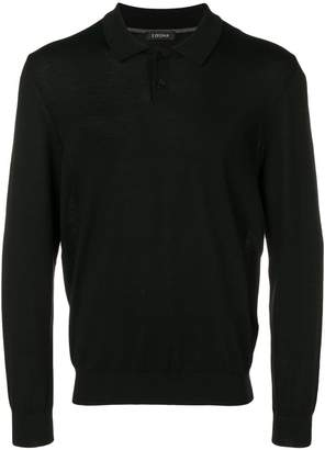 Ermenegildo Zegna long-sleeve fitted polo top