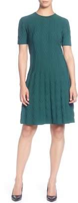 Catherine Malandrino Jacquard Sweater Dress