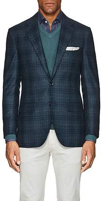 Sartorio Men's PG Plaid Wool-Silk Two-Button Sportcoat