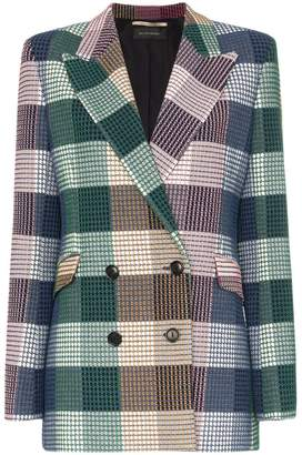 Roland Mouret Harleston double-breasted check blazer