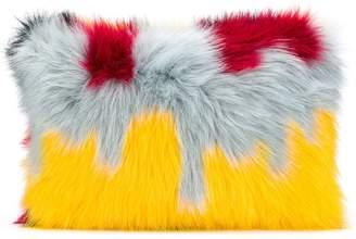 Ultràchic patterned faux fur clutch