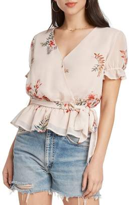 Willow & Clay Floral Faux Wrap Top