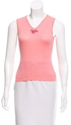 Blumarine Knit Embellished Top