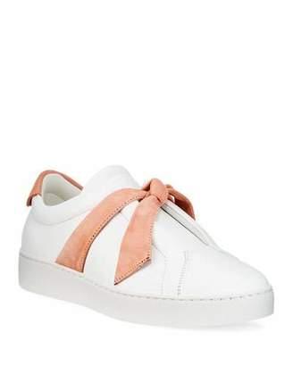 Alexandre Birman Clarita Two-Tone Sneakers, White/Pink