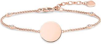 Thomas Sabo Glam & Soul 18ct rose gold-plated disk bracelet
