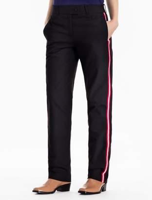 Calvin Klein striped cotton stretch pants