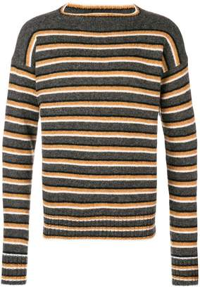 Prada striped long-sleeve sweater