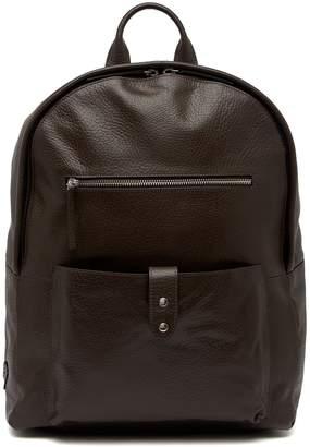 Cole Haan Saunders Leather Zip Top Backpack