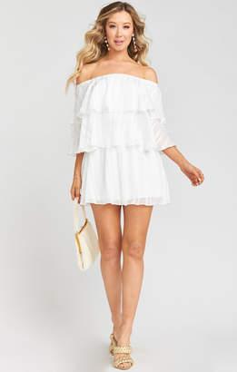 Show Me Your Mumu Triple Decker Romper ~ Flutter Stripe Chiffon White
