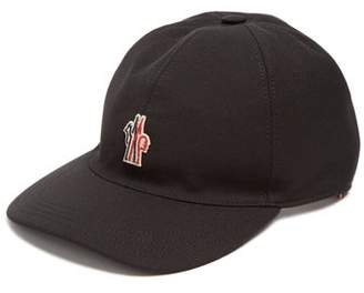 Moncler Embroidered Logo Canvas Cap - Mens - Black f3261b1cd