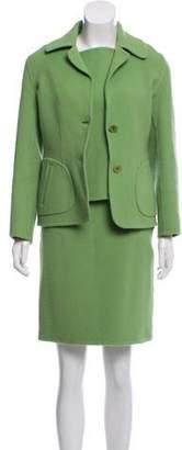 Ralph Lauren Wool-Blend Three-Piece Skirt Set