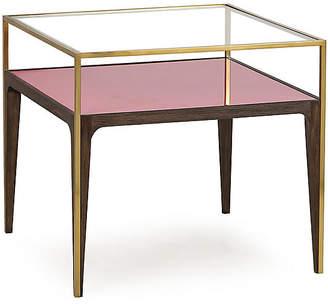 clear Rubylite Side Table Boyd
